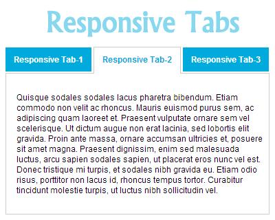 jQuery Responsive Tabs