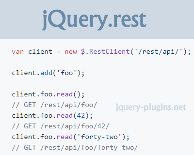 jQuery.rest – jQuery Plugin for RESTful APIs