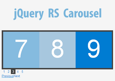 jQuery RS Carousel