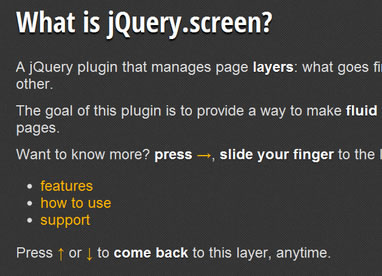 jQuery.screen – jQuery Plugin That Manages Page Layers