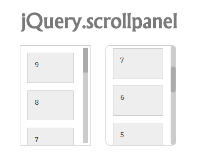 jQuery.scrollpanel – Simple Vertical Scrollpanel
