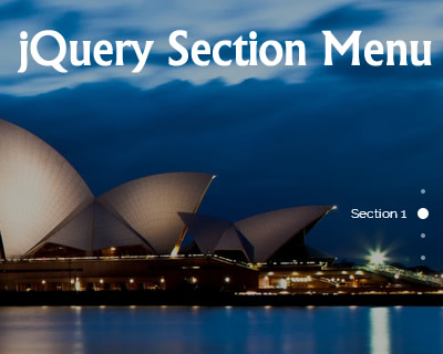 jQuery Section Menu