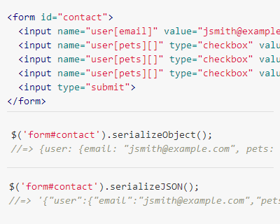 form serialize | jQuery Plugins