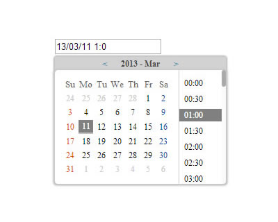 jQuery Simple Datetime Picker