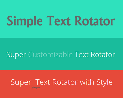 jQuery Simple Text Rotator