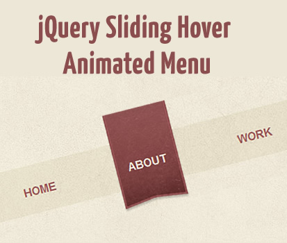 jQuery Sliding Hover Animated Menu