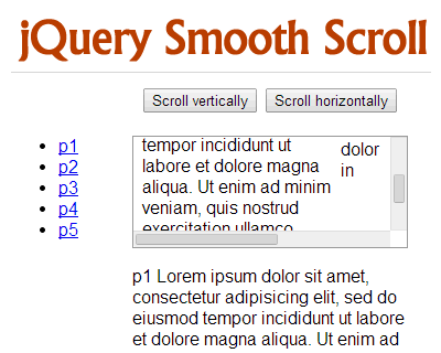 jQuery Smooth Scroll Plugin