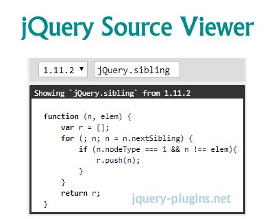 jQuery Source Viewer