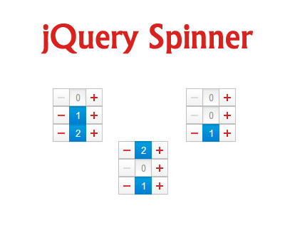 Spinner – jQuery Plugin for Selecting Numbers by Typing or Clicking