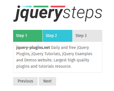 jQuery-Steps – Lightweight jQuery Step Wizard Plugin
