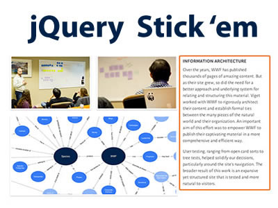 jQuery Stick 'em – Make Content Sticky on Scroll