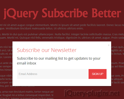 jQuery Subscribe Better