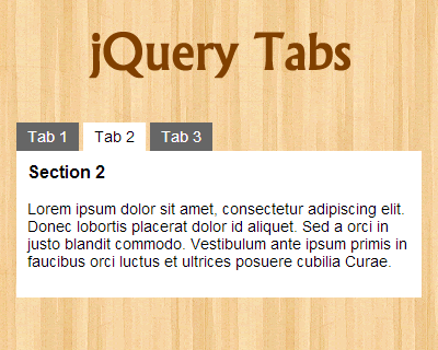 jQuery Tabs Tutorial
