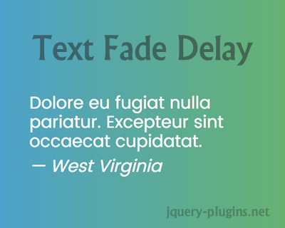 jQuery Text Fade Delay