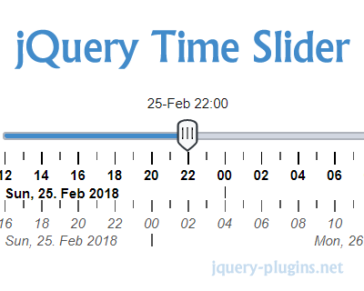 jQuery Time Slider –  jQuery Time & Date Selection with Slider