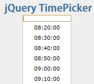 jQuery TimePicker Plugin