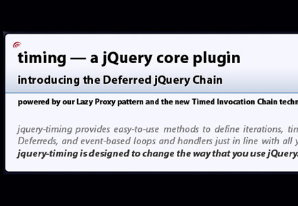 jQuery-Timing – Timing & Loops Made Easier
