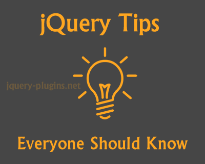 jQuery Tips Everyone Should Know