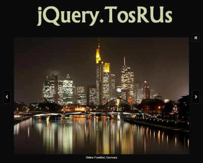 jQuery.TosRUs – Responsive, Lightbox Alternative for Scrolling/Swiping Any Content