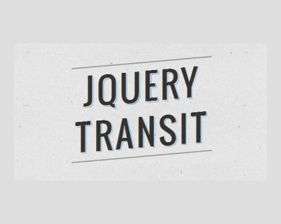 jQuery Transit - CSS3 Transitions for jQuery