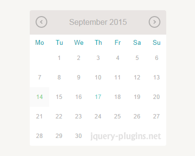 jQuery UI Datepicker with Material Design | jQuery Plugins