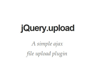 jQuery.upload - Simple Ajax File Upload Plugin