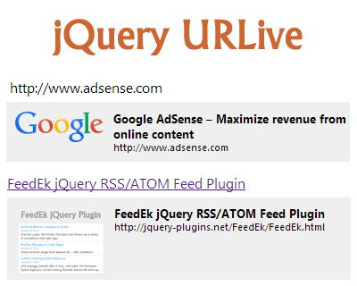jQuery URLive – URL Live Preview Plugin