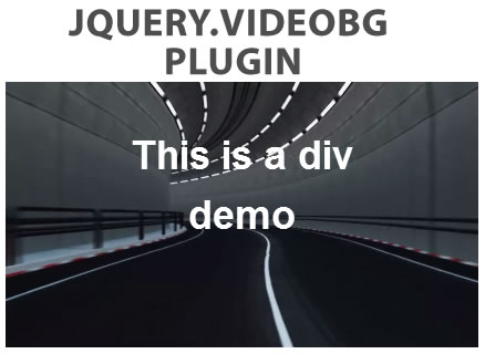 jQuery.VideoBG – HTML5 Video Background jQuery Plugin