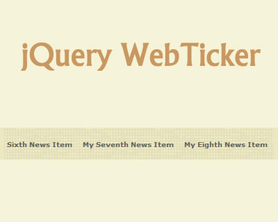 jQuery WebTicker Plugin