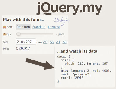jQuery.my – Bind HTML With JavaScript Objects