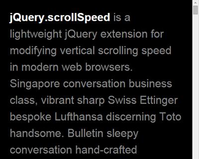 jQuery.scrollSpeed – Modify Vertical Scrolling Speed