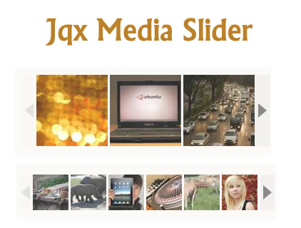 Jqx Media Slider – Customizable jQuery Media Slider Plugin