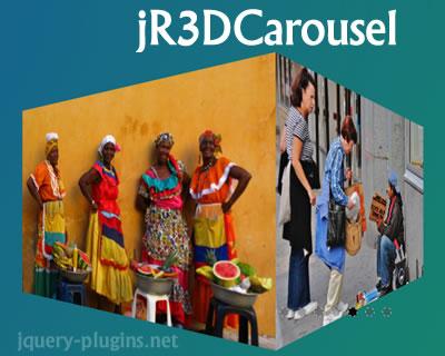 jR3DCarousel –  jQuery 3D Responsive Carousel