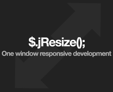 jResize – Responsive Development Plugin for Resizing the Content