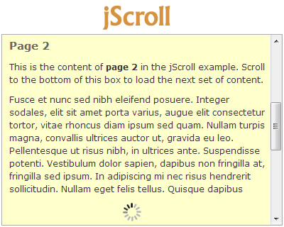 jScroll – jQuery Plugin for Infinite Scrolling