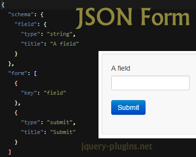 JSON Form – Javascript Library to Build Forms from JSON Schema