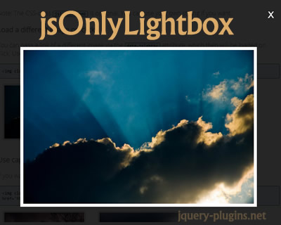 jsOnlyLightbox – Responsive Lightbox with JavaScript