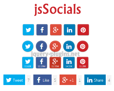 jsSocials – Social Network Sharing Plugin