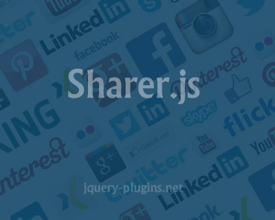 Sharer.js – Custom Social Share Elements with Javascript