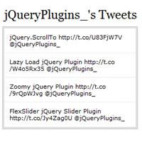 jTwitter jQuery Twitter API Plugin