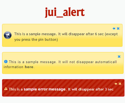 jui_alert – jQuery Simple Notification Plugin