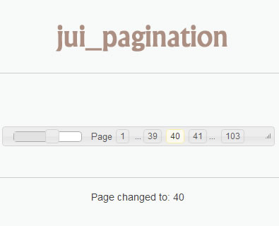jui_pagination – jQuery Pagination Plugin Using jQuery UI