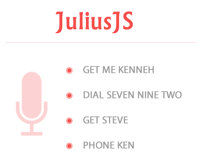 JuliusJS – Speech Recognition Library for Web