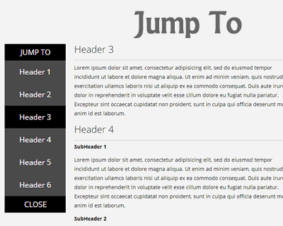 Jump To – Smooth Jump-To Sub Navigation Menu