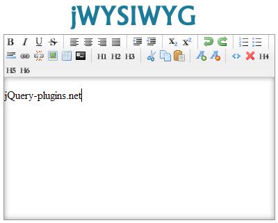 jWYSIWYG – jQuery WYSIWYG Editor