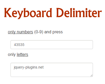 Keyboard Delimiter – jQuery Plugin for Delimite Pressed Key on Keyboard