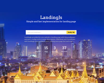 Landing.js – Javascript Library for Simple Landing  Page