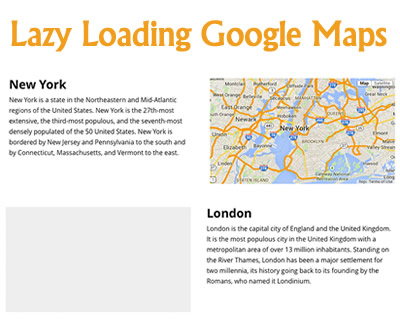 Lazy Loading Google Maps
