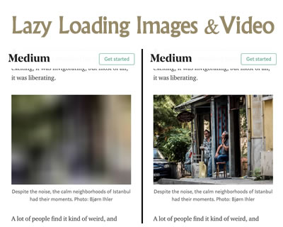 Lazy Loading Images and Video Techniques