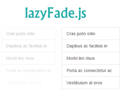 lazyFade.js – Fades Row of Elements with Lazy Effect